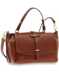 The Bridge Dalston Genuine Leather Satchel Bag - Brown