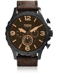 Fossil JR1487 Nate Men's Watch - Negro