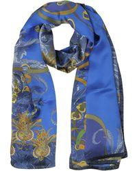 Mila Schon - Ornamental And Pattern Printed Satin Silk Stole - Lyst