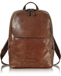 The Bridge - Marrone Leather Men s Backpack - Lyst a581245577da9