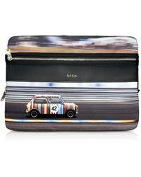 Paul Smith Mini Print Pochette pour Ordinateur Portable - Gris