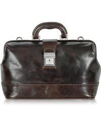 Chiarugi - Medium Dark Brown Leather Doctor Bag - Lyst