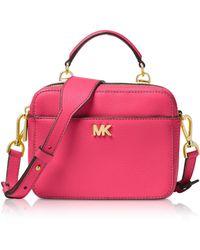 Michael Kors - Mott Mini Pebbled Leather Crossbody - Lyst