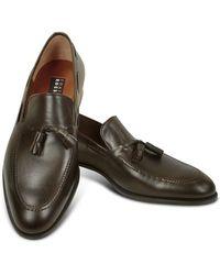 Fratelli Rossetti - Loafer aus dunkelbraunem Leder mit Troddeln - Lyst