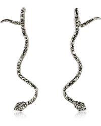 FEDERICA TOSI Long Snake Earrings - Schwarz