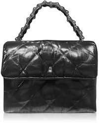 Alexander Wang Black Quilted Leather Halo Xbody Bag