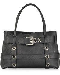Buti - Black Leather Shoulder Bag W/buckle - Lyst