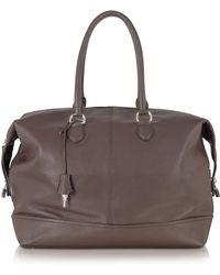 Buti - Dark Brown Leather Weekender - Lyst