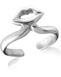 Bernard Delettrez - Silver Midi Ring W/mouth - Lyst