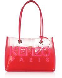 KENZO Kombo Tote Bag Transparent avec Logo - Rose