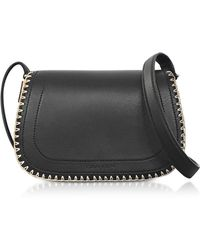 Carven - Mazarine Black Leather Crossbody Twin Bag - Lyst