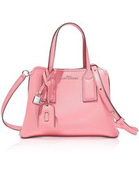 Marc Jacobs The Editor Leather Crossbody Bag - Pink