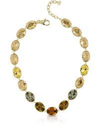 FORZIERI Golden Crystal Necklace - Mettallic