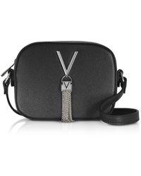 Valentino By Mario Valentino Divina Mini Bolso a Bandolera de Eco-Cuero Repujado - Negro