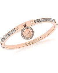 Michael Kors - Heritage Pvd Rose Goldtone Stainless Steel Bracelet - Lyst