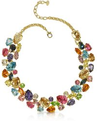 FORZIERI - Multicolor Crystal And Metal Necklace - Lyst