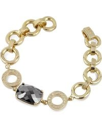 AZ Collection - Gold Plated Chain Bracelet - Lyst
