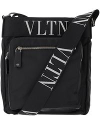 Valentino Black Nylon Crossbody Bag - Schwarz