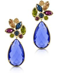FORZIERI - Crystal Drop Earrings - Lyst