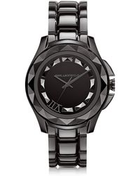 Karl Lagerfeld - Karl 7 43.5 Mm Gunmetal Ip Stainless Steel Unisex Watch - Lyst