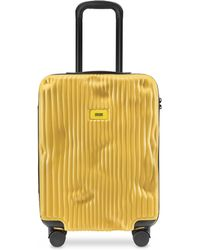 Crash Baggage Stripes Carry-on Trolley - Yellow