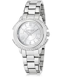 Just Cavalli - Just Decor Silver Tone Stainless Steel Women's Watch - Lyst