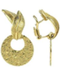 Torrini - Victoria - 18k Yellow Gold Chiselled Earrings - Lyst