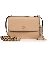 Tory Burch - Brooke Savannah Leather Shoulder Bag - Lyst
