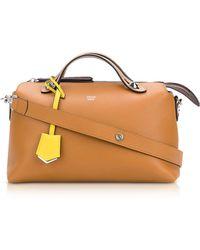 Fendi - By The Way Caramel Leather Satchel Bag - Lyst