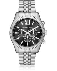 Michael Kors Reloj de acero inoxidable para hombre Lexington - Metálico