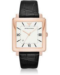 Emporio Armani - Ar11075 Modern Square Men's Watch - Lyst
