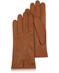 FORZIERI Braune Damenhandschuhe aus italienischem Leder