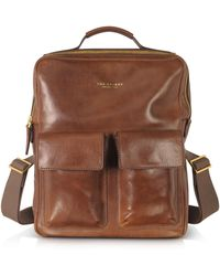 The Bridge - Sfoderata Marrone Leather Backpack - Lyst