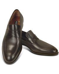 Fratelli Rossetti - Penny Loafer Schuhe aus dunkelbraunem Leder - Lyst