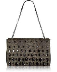 Class Roberto Cavalli - Obsession Treasure Medium Animal Print Eco Leather Shoulder Bag W/crystals - Lyst