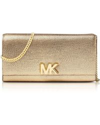 Michael Kors - Mott Metallic Leather Chain Wallet - Lyst