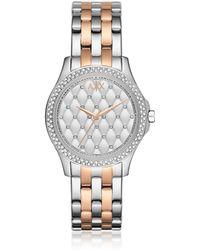 Armani Exchange - Lady Hampton Two Tone Women's Watch - Lyst