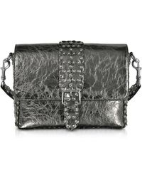 RED Valentino - Flower Puzzle Anthracite Leather Shoulder Bag - Lyst