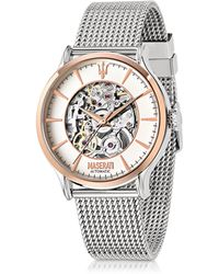 Maserati - Epoca Two Tone Stainless Steel Men's Watch - Lyst