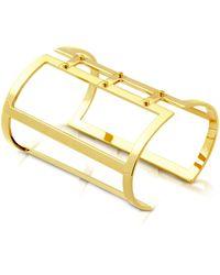 Pluma | Brass Open Viti Cuff In Fumoso | Lyst