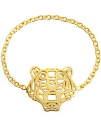 KENZO Gold Plated Mini Tiger Ring - Métallisé