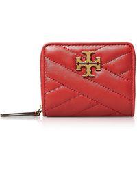 Tory Burch Kira Chevron Bi-Fold Wallet - Rojo