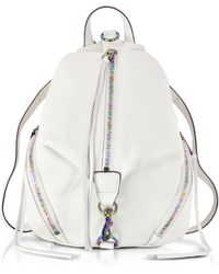 Rebecca Minkoff - Bianco Leather Medium Julian Backpack - Lyst