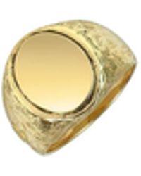 Torrini - Ovaler Herrenring aus 18k Gelbgold mit Gravur - Lyst