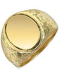 Torrini - Oval 18k Yellow Gold Men's Ring - Lyst