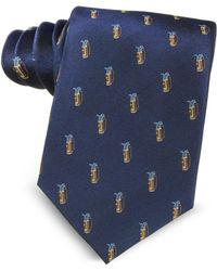 Marina D'este - Golf Bag Light Blue Woven Silk Men's Tie - Lyst