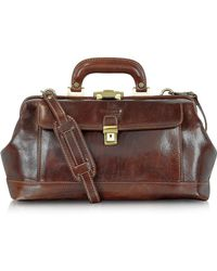 Chiarugi - Handmade Brown Leather Professional Doctor Bag - Lyst
