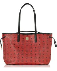 MCM - Shopper Project Visetos Ruby Red Medium Reversible Tote - Lyst
