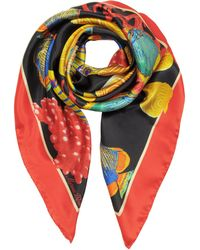 Marina D'este - Seabed Print Silk Square Scarf - Lyst