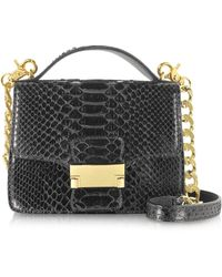 Ghibli | Black Python Leather Shoulder Bag | Lyst